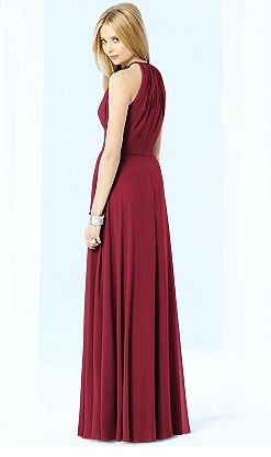 back view #red #bridesmaiddress