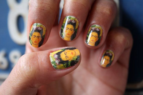 Hey, I found this really awesome Etsy listing at http://www.etsy.com/listing/124757844/frida-kahlo-nail-art-decals