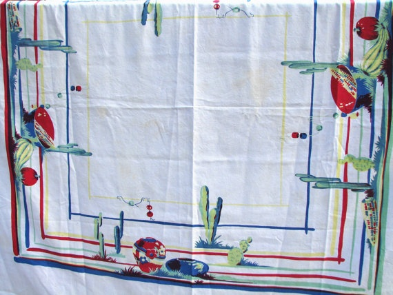 1950's Southwestern tablecloth by BlessedBoutiques on Etsy, $40.00