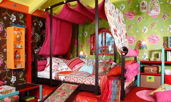 bohemian decorating style pictures | Colorful Ideas for Decorating Girls Bedrooms, Gypsy Decoration Style