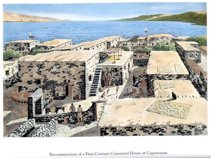 Capernaum Artist S Reconstruction Of The Town Showing The