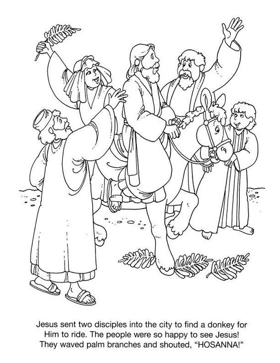 Palm Sunday Coloring Pages | Palm sunday