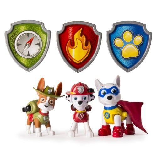 Paw Patrol Action Pack Pups Figure Set, 3pk, Tracker, Apollo, Marshall