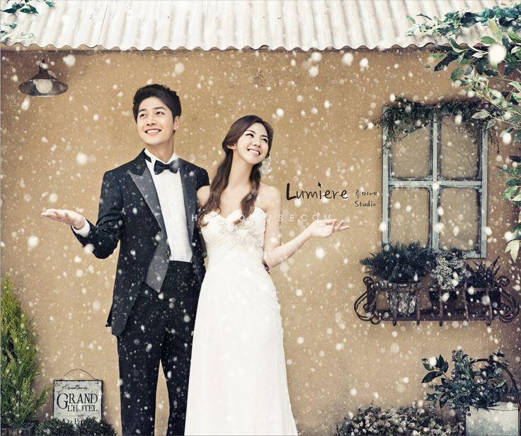 pre wedding photo shoot with snow in Korea