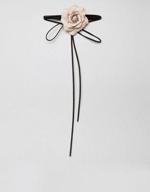 River Island Rose Corsage Neck Tie