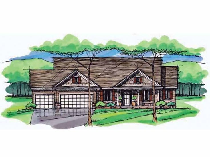 Eplans Ranch House Plan Three Bedroom Ranch 3054