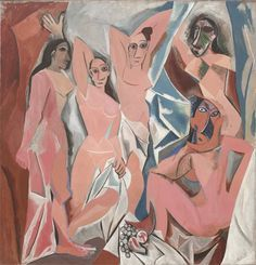 Les Demoiselles d'Avignon, Pablo Picasso (1907) radical break from traditional composition and perspective in painting