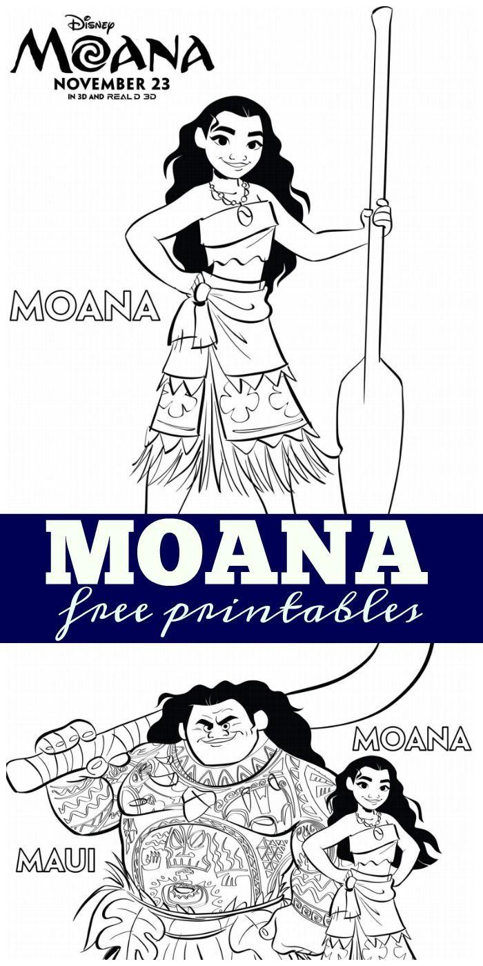 Moana free printables Free printables