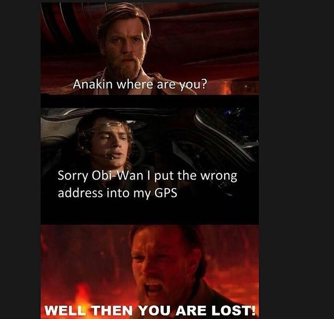 Pin By Mary On The Force Is Strong With This One Star Wars Humor Funny Star Wars Memes Star Wars Jokes