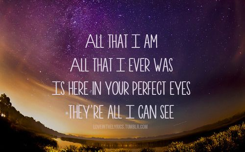Chasing Cars. Snow Patrol.  Never gets old <3