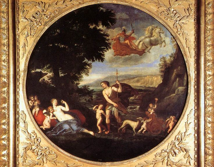 ALBANI, Francesco Autumn (Venus and Adonis) 1616-17 Oil on canvas, diameter 154 cm Galleria Borghese, Rome