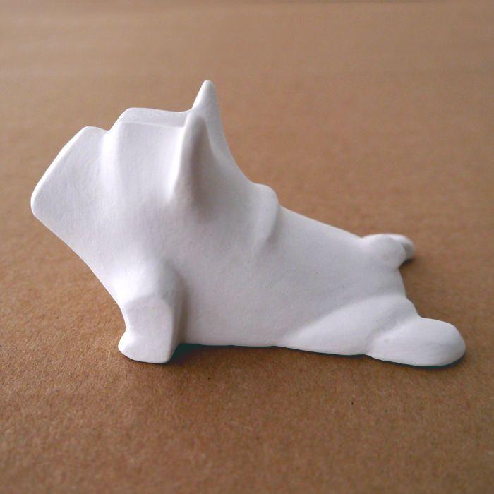 Figurka Rzeżba Buldog Francuski Biały Psia Joga – Cena | sklep internetowy Psiakrew