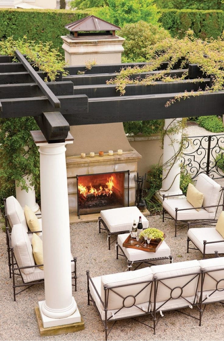 25 best ideas about outdoor living spaces on pinterest for Elegant patios