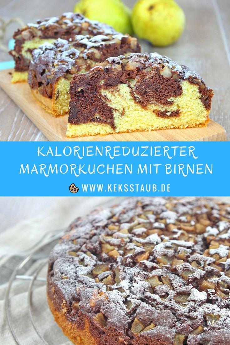 2017 wird kalorienreduziert gebacken: kalorienreduzierter Marmorkuchen mit Birnen ohne Haushaltszucker