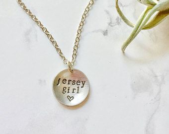 Jersey Girl Necklace, New Jersey Gift, Present for Girlfriend, Wife Birthday Present, Best Friend Jewelry Gift, Jersey Shore jewelry gift NJ