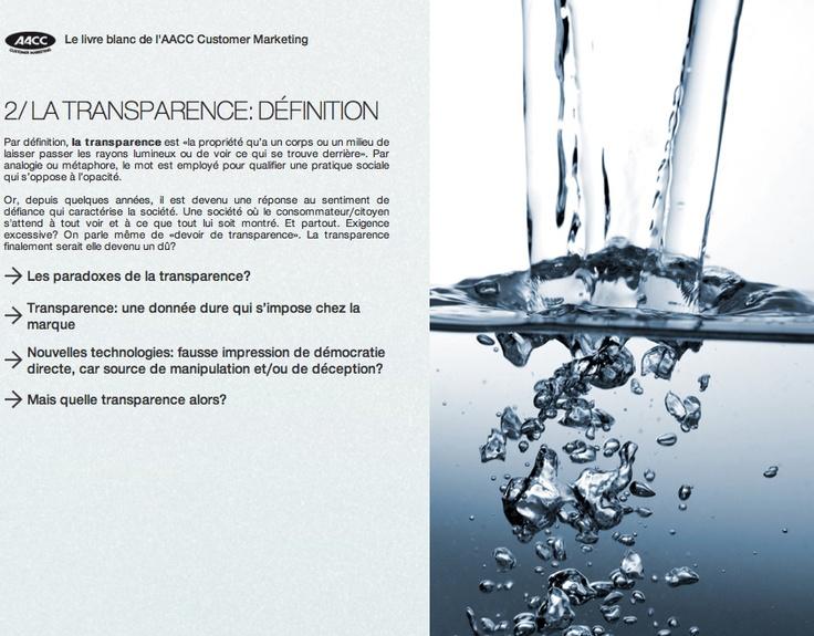 Transparence, une pratique sociale qui s'oppose à l'opacité #AACCtank