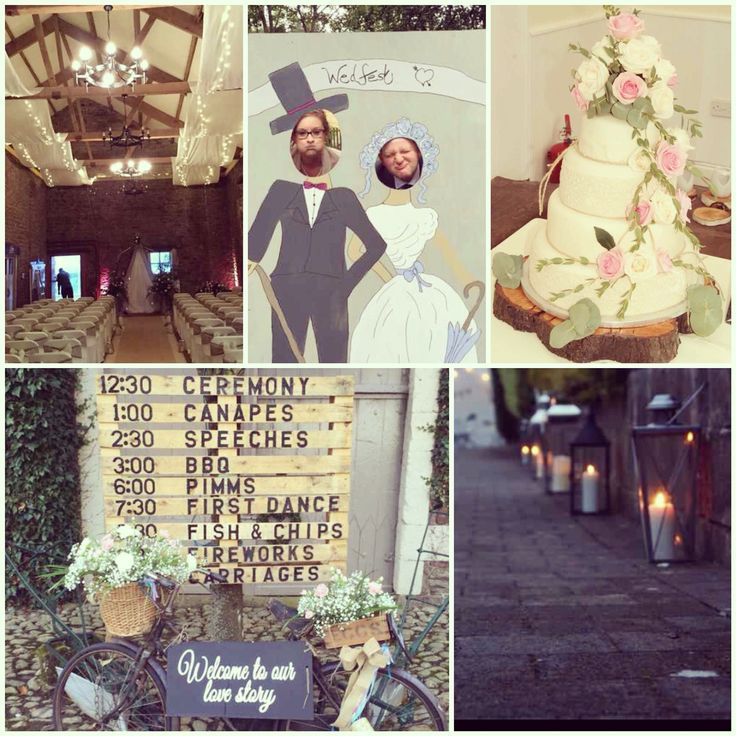 Hayley's wedding at Blaithwaite House, Cumbria. With stunning floral wedding cake, lanterns, wedding sign and fairy lights 😍