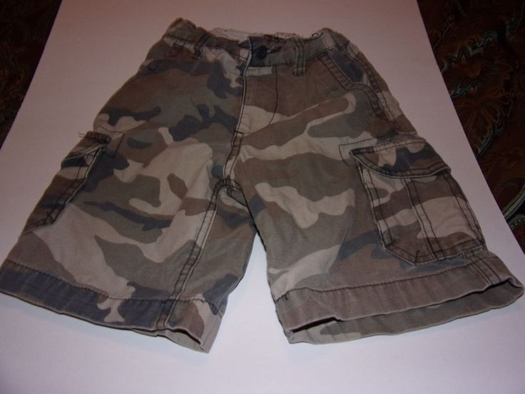 Faded Glory: Boys Size 5T Camo Shorts, With Adjustable Waist Band #FadedGlory #Everyday