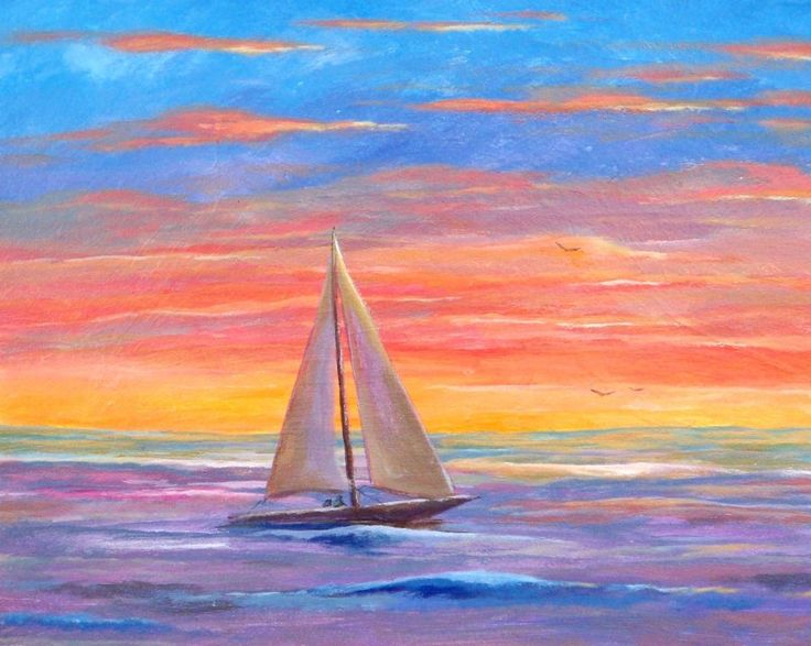 how to paint a sailboat picture - Google Search