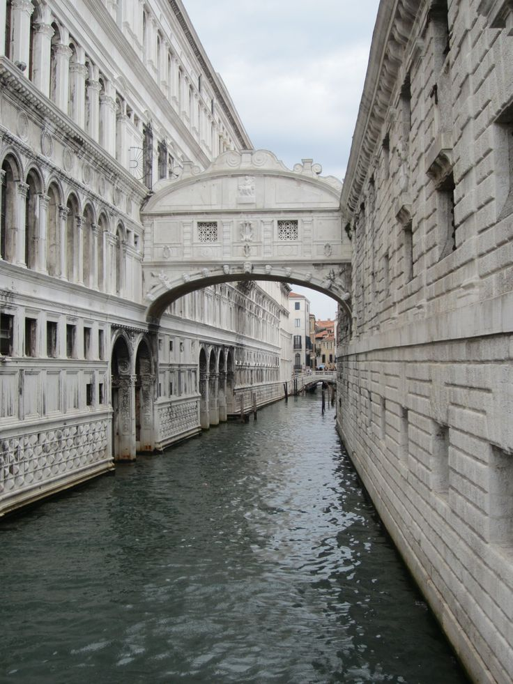 Bridge of Sighs in Venice, Italy.  This bridge passes over the Rio di Palazzo.  It connects the prison to the court room in the Doge's Palace. It was the last view of Venice that a convict would see before going to prison.