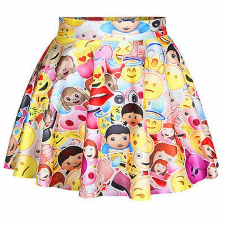 emoji life skater skirt