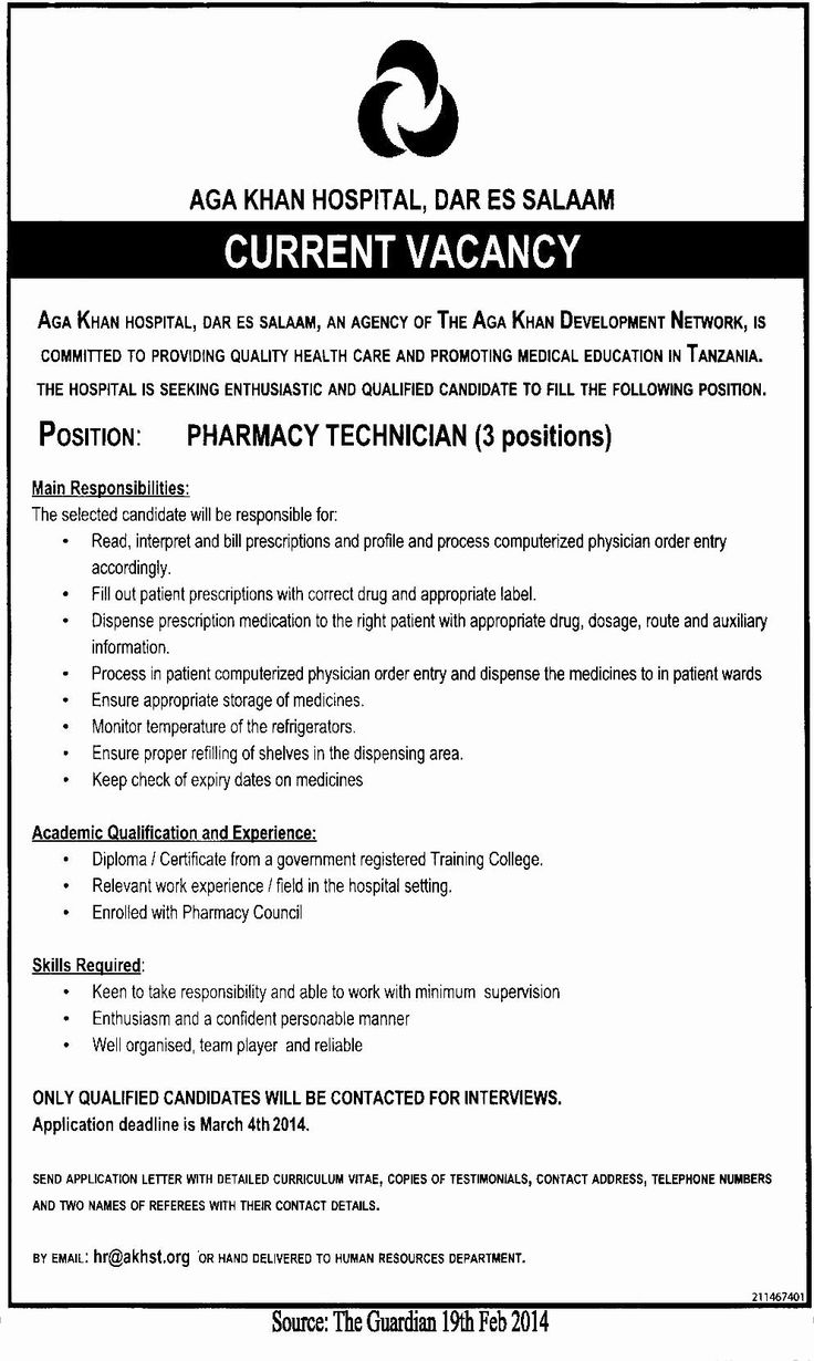20 Pharmacy Technician Job Description Resume Teaching
