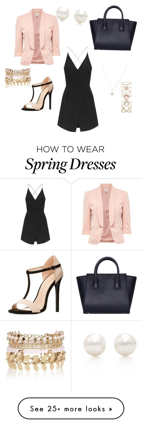 """Spring 2016"" by jdvinecourt on Polyvore featuring Charlotte Russe, Topshop, LC Lauren Conrad, Accessorize, River Island and Tiffany & Co."