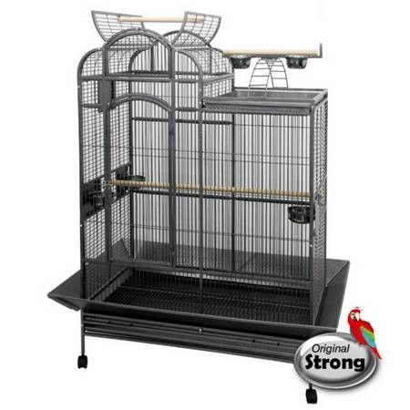 Cette cage Venus Original Strong offre un très grand espace de vie à votre oiseau. Elle est adaptée aux perroquets : gris du Gabon, Amazone, Eclectus et aux Cacatoes : Rosalbin, Cacatoès Alba.