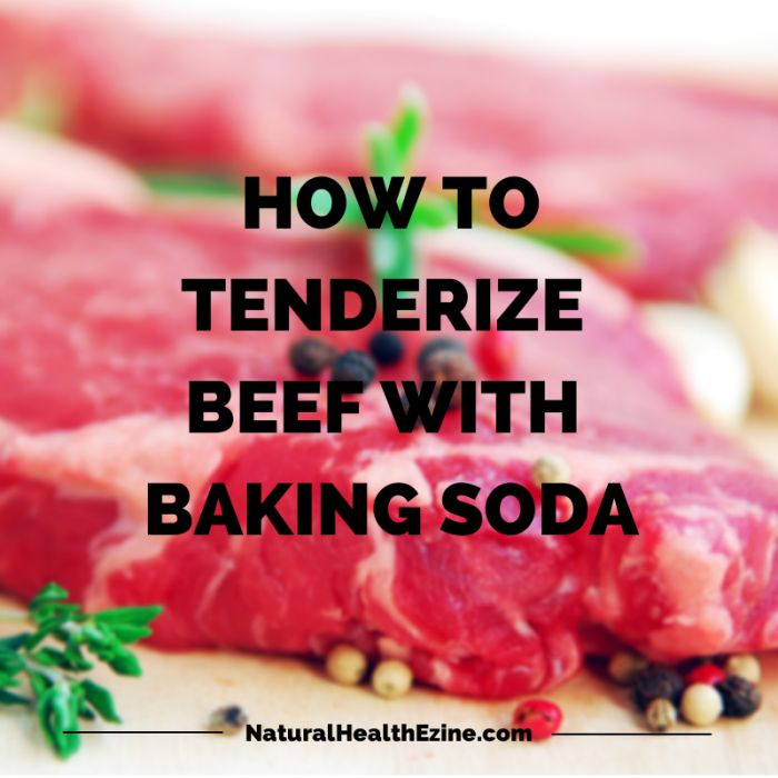 HOW TO TENDERIZE BEEF WITH BAKING SODA  I use it in hamburger so its not so grainy