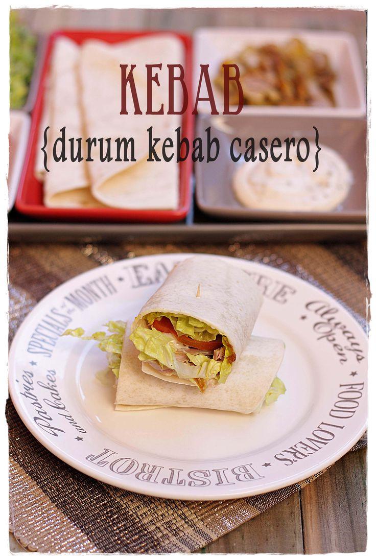 Kebab (Durum Kebab casero) {by Paula, Con las Zarpas en la Masa}