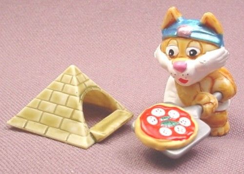 Kinder Surprise, 1997, Cairo Cats, Pizza Tut, #3, Baking Pyramid Pizza, Egyptian