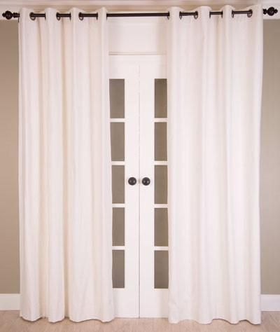 #P5508 Cotton Blend Curtains in White (Use Discount Code)