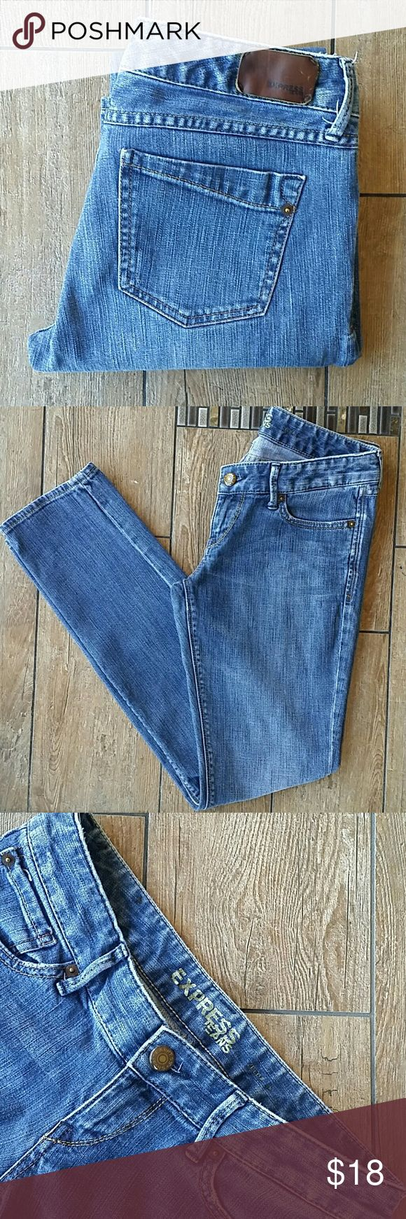 """🆕LIST EXPRESS """"ZELDA"""" SKINNY JEAN Medium rinse  Skinny jean Button/zip close 14.5"""" across top of waist 32"""" inseam 6"""" leg opening at hem No rips or stains Smoke free home Express Jeans Skinny"""