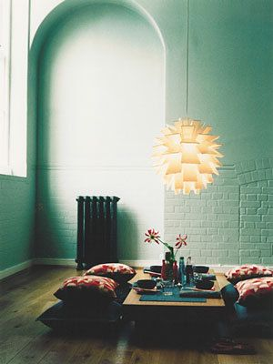 Floor cushions (+ Norm 69 light by Simon Karkov)