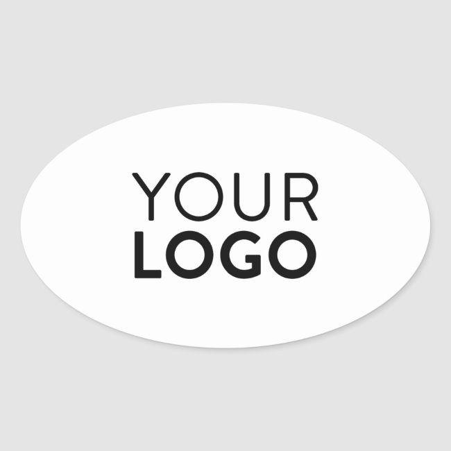 Oval Stickers Zazzle Com Business Card Mock Up Logo Sticker Sticker Design
