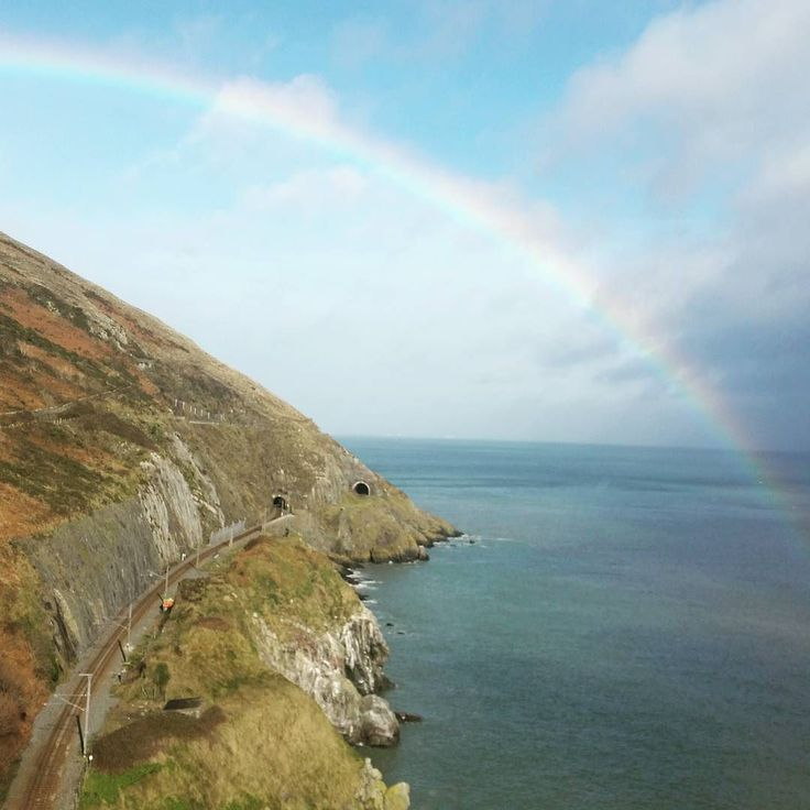 Amazing rainbow over the Bray to Greystones Cliffwalk