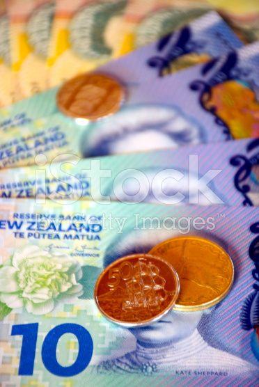 New Zealand Money (NZD); Dollars & Coins royalty-free stock photo