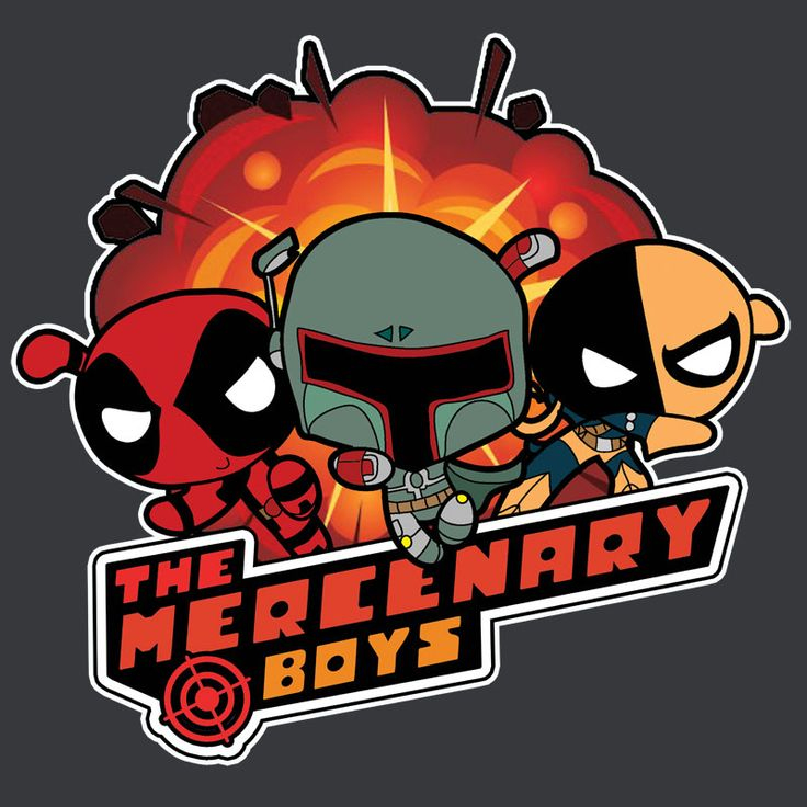 What do you get when you mash up Powerpuff Girls with Deadpool, Boba Fett and Deathstroke? The Mercenary Boys, that's what! These guys are ready to kick some butt and take names.  The Mercenary Boys shirt and baby onesie.  #deadpool #deathstroke #powderpuffgirls #bobafett #shirtoftheday #deadpoolshirt #deadpooltshirt #babyonesie #babyclothing #babyclothing #geekshirt #geektshirt