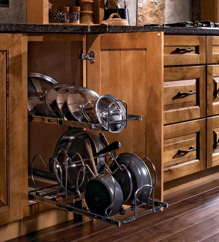keep your pots and pans organized with the this insert