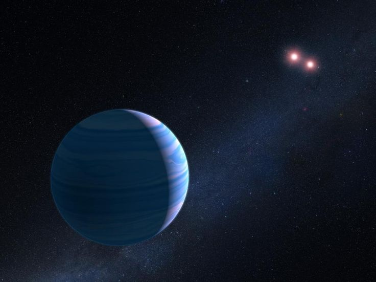 SPOTTED: Saturn-like planet orbiting not 1, but 2 stars ~8K light-yrs away by NASA_Hubble
