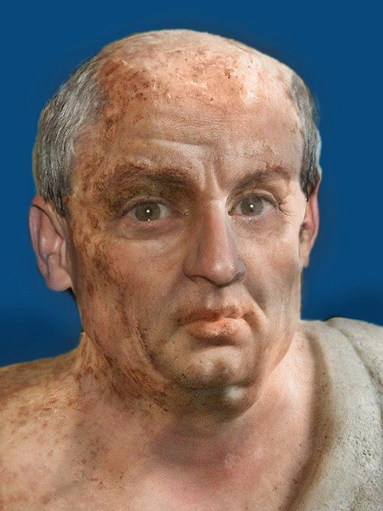 Facial reconstruction of Roman Stoic philosopher Seneca (5 BC - 65 AD)