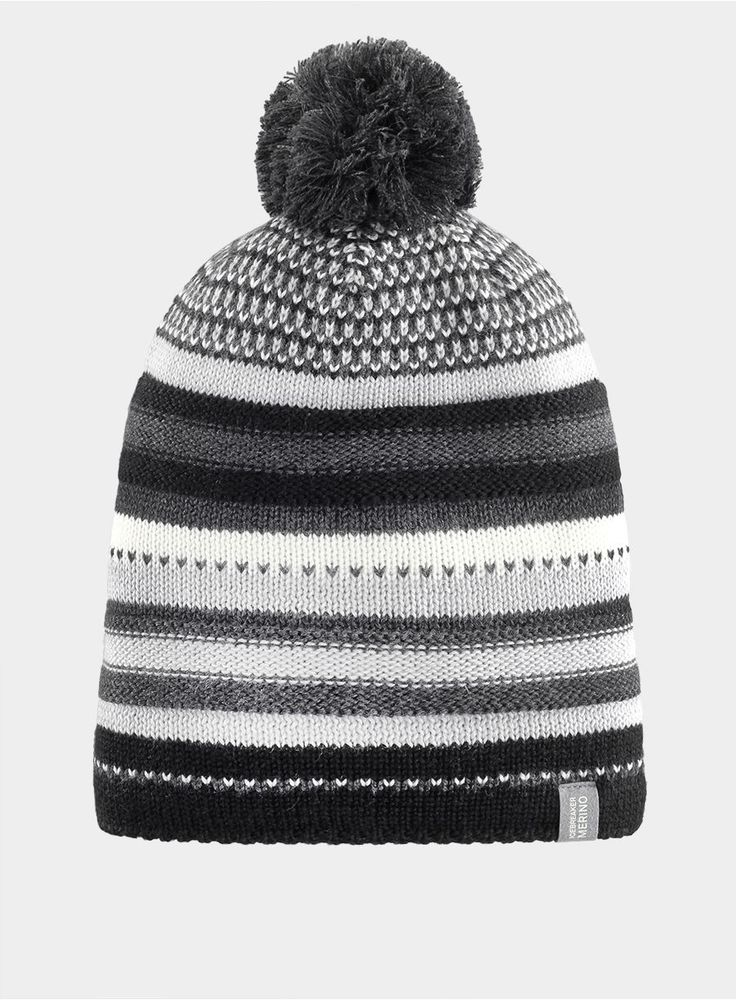 Czapka Icebreaker Chateau Hat - black/jet heather/metro heather