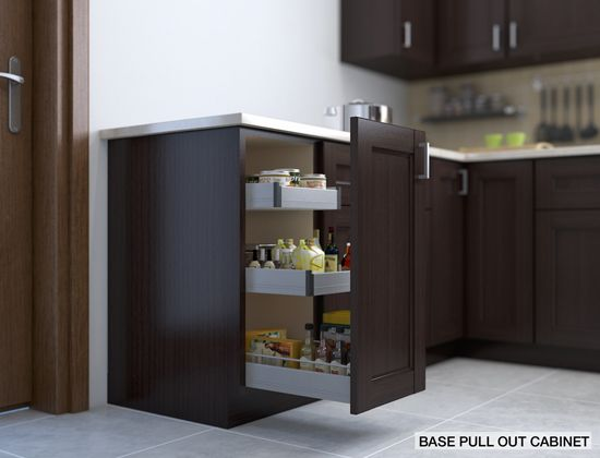 Base pull out cabinet perfect for spices oils and
