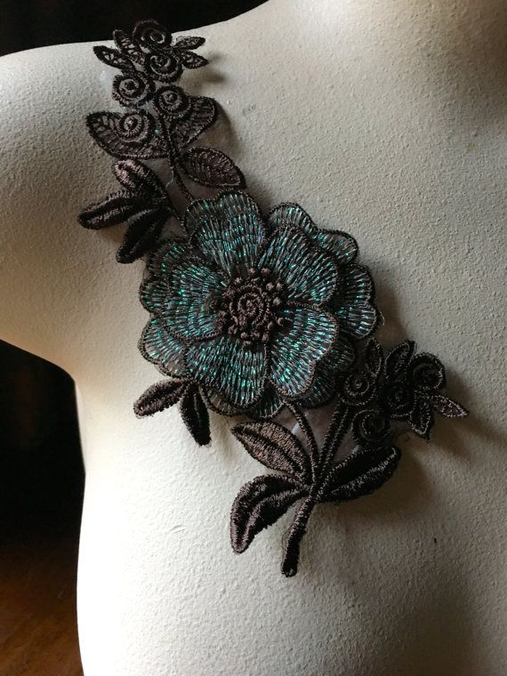 Flor marrón apliques para danza lírica, prendas de vestir, traje diseño CA