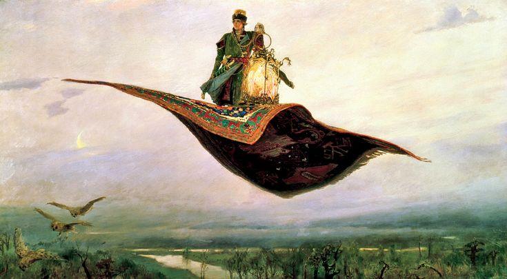 Картина Васнецова Ковер Самолет. 1880 г. V. Vasnetsov Carpet Plane