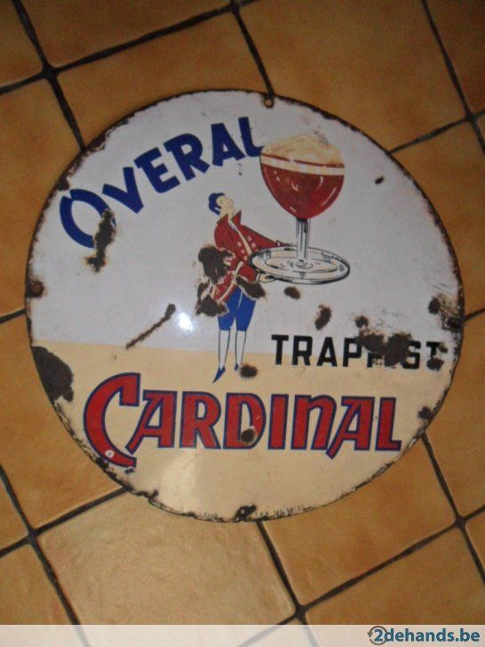 """Email bord """"Trappist CARDINAL Overal """" dia 45, 1947 email koekelberg"""