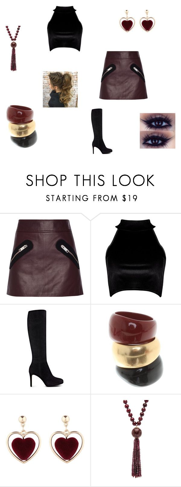 """""""January 11, 2018- Outfit of the Day"""" by purple-811 ❤ liked on Polyvore featuring Versus, Boohoo, Nine West and Salvatore Ferragamo"""