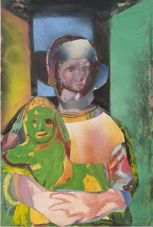 """Alessandro Pessoli, """"Madre e figlio."""" Photograph courtesy of Anton Kern Gallery, New York."""