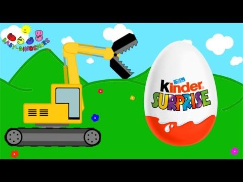 Surprise Eggs and Excavator | Dinosaurs for Children by Baby-Dinosaurs. https://youtu.be/xwsCqvrC-Ak
