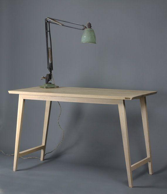 Oak Desk Table Bespoke sizes writing computer by KONKfurniture